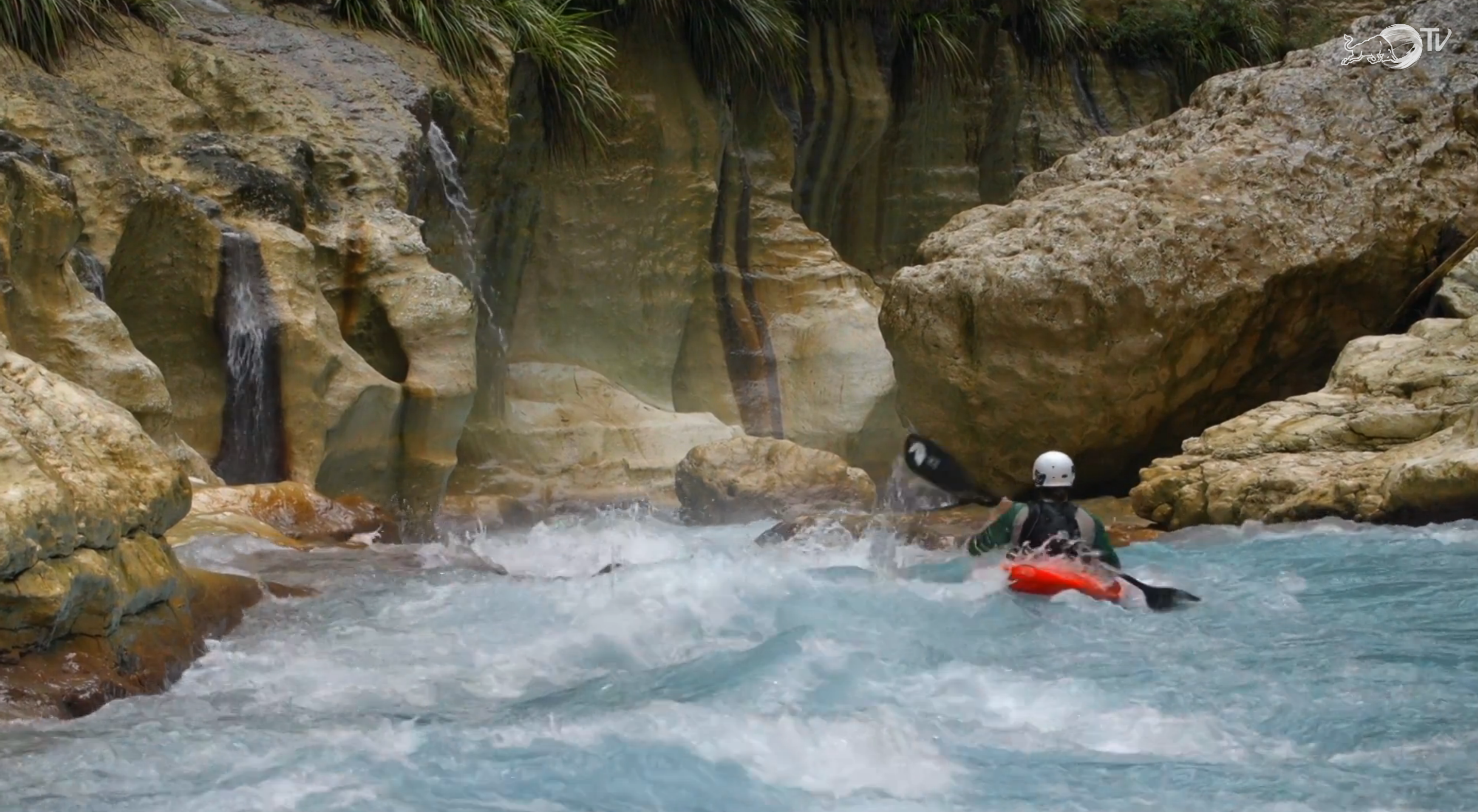 "first decent kayaking photo from red bull movie ""Locked In"""