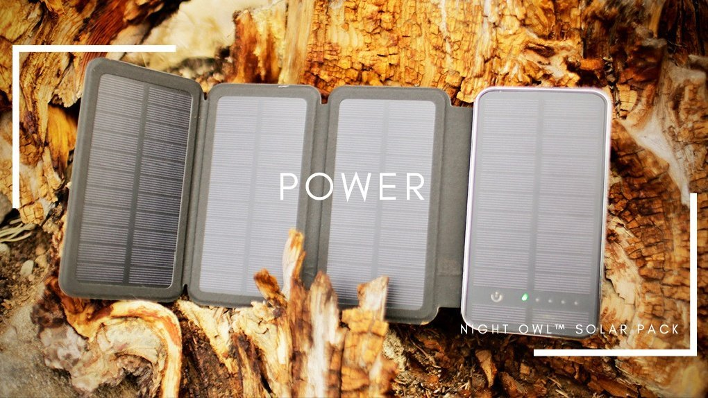 best solar battery pack for camping by REVEL GEAR