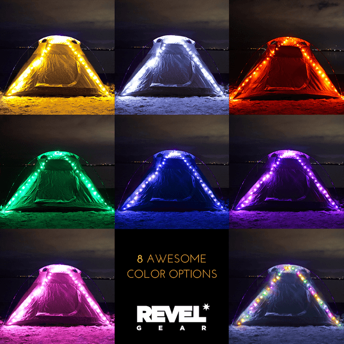 REVEL GEAR's REVEL LIGHT best camping gear light color options